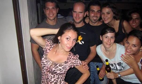 Foto en grupo, noche cultural