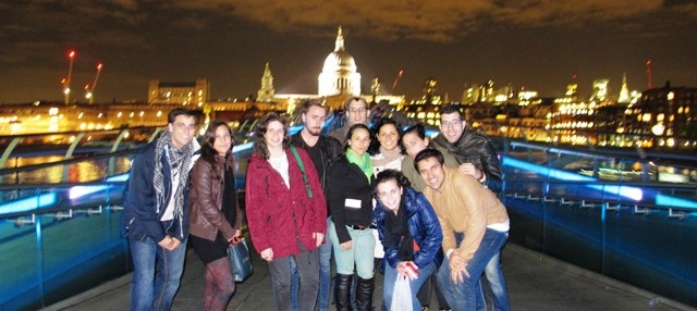 Night Thamesis with St. Paul's Cathedral